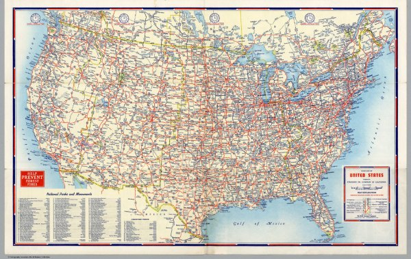 Driving Map Of The United States