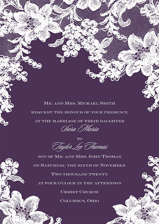 Wedding Invitation Wording David S Bridal