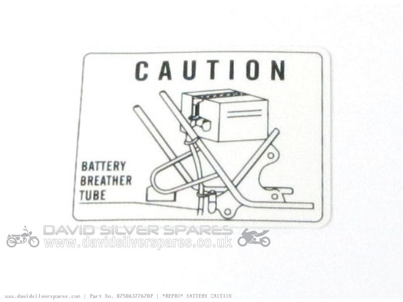 Honda CB400F SUPER SPORT FOUR Battery caution label (Upto