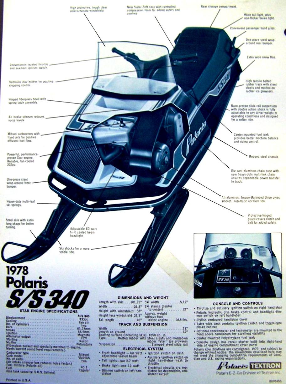 medium resolution of 1987 polaris s s 340 snowmobile