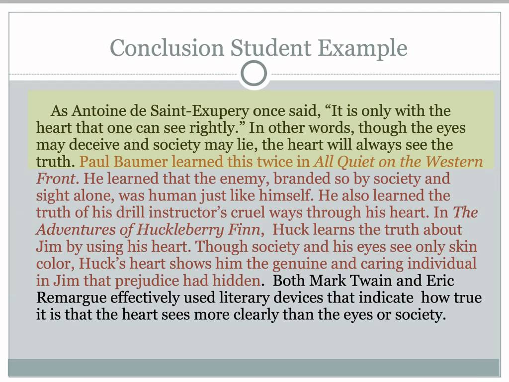 Writing A Good Conclusion Paragraph For A Research Paper