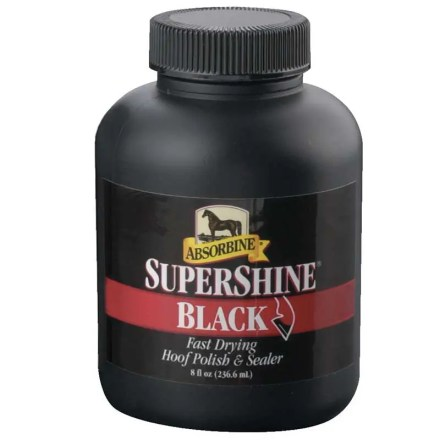 ABSORBINE SUPERSHINE HOOF POLISH BLACK 237ML-0