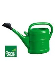 PLASTIC WATERING CAN GREEN 10L-0