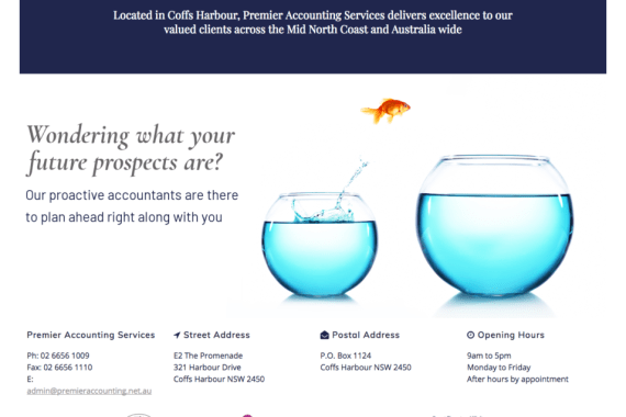 Screenshot of Premier Accounting Services (www.premieraccounting.net.au)