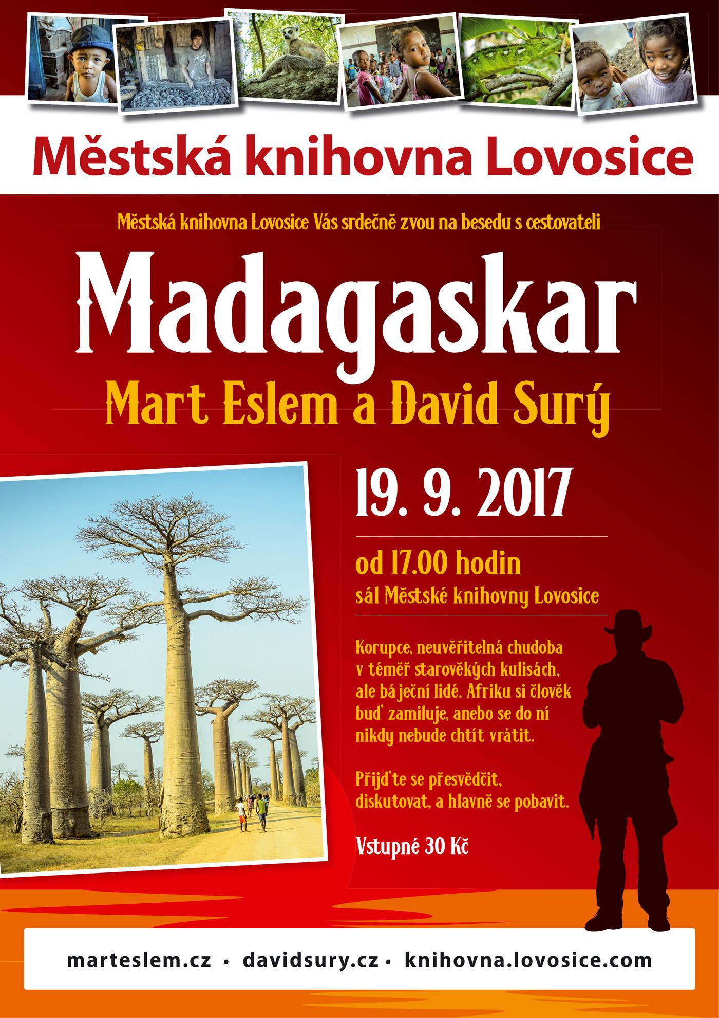 Mart Eslem a David Surý Madagaskar knihovna Lovosice