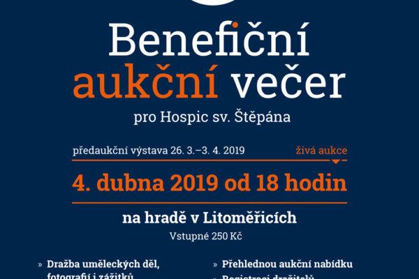 Benefiční aukční večer pro Hospic  sv. Štěpána v Litoměřicích | úterý 4. dubna 2019 na hradě v Litoměřicích