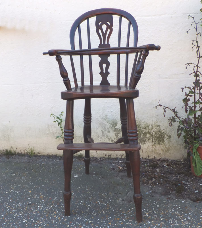 high chairs uk hanging chair in pakistan antique yew wood child s settles