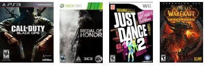best top video games october christmas 2010