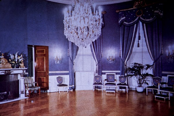 White House - Blue Room Before Restoration