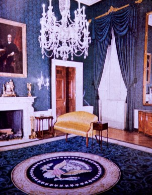 White House - Green Room Before Restoration