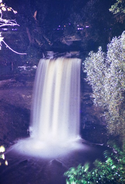 Minnehaha Park - Minnehaha Falls at Night