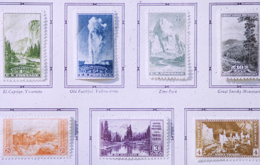 Art – National Parks – My Stamp Album