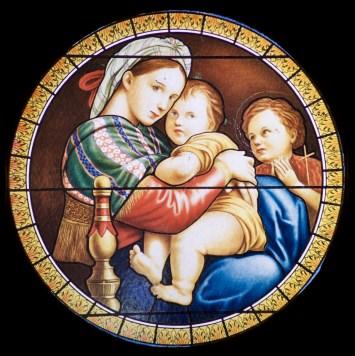Forest Lawn - Madonna Window by Raphael