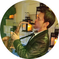 Disc Jockey and Sax Player David Turner