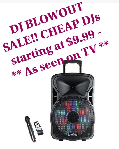 An image depicting a cheap local DJ service, being offered at a fictitious price of $9.99