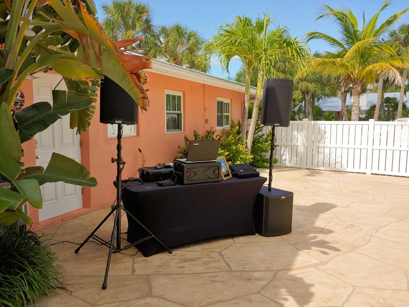 Siesta Key vacation rental wedding with music by David Turner Music, Sarasota Disc Jockey and Live Musician