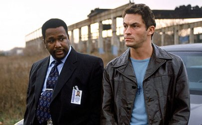Wendell Pierce (left) and Dominic West as Bunk Moreland and Jimmy McNulty