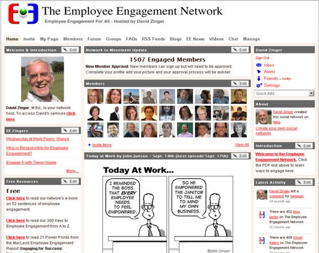 Employee engagement network