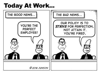 Perfect Employee Cartoon