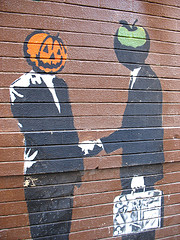 Mr. Pumpkin and Mr. Apple