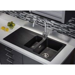 Black Kitchen Sink And White Table Orion Tectonite Carbon Bowl 1 2