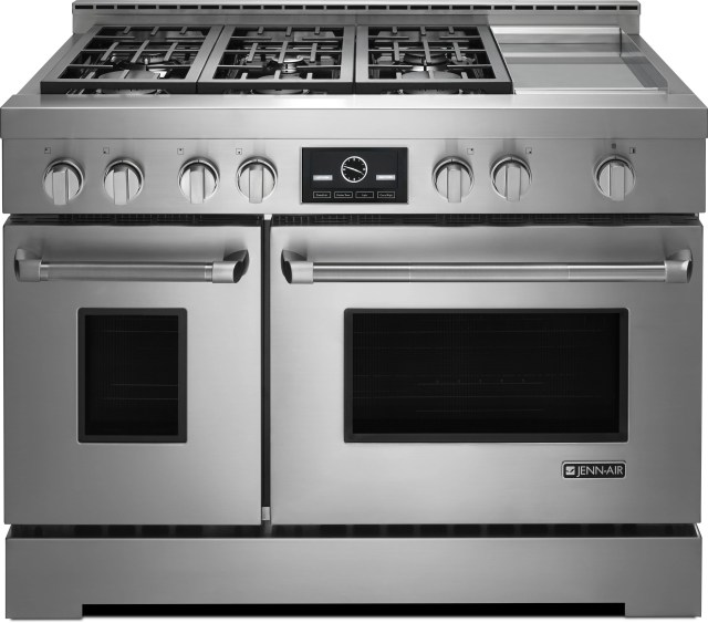"""jenn-air® pro-style® 48"""" freestanding range-stainless steel"""
