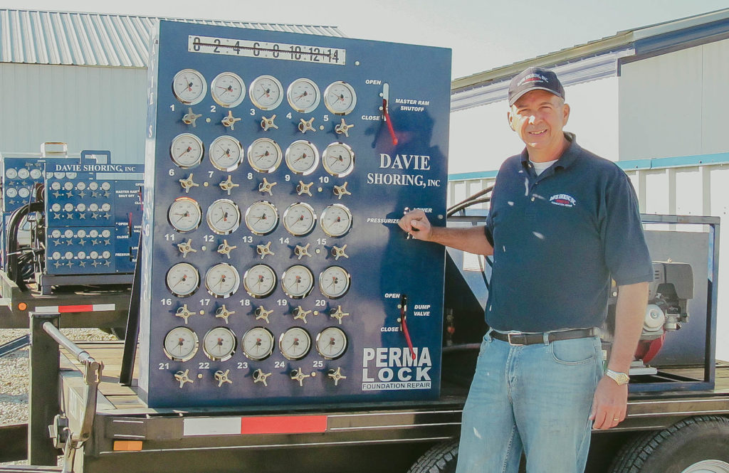 davie shoring elevating home system hydraulics