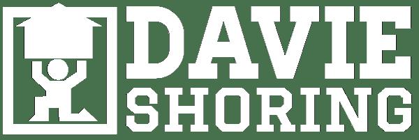 davie shoring white logo
