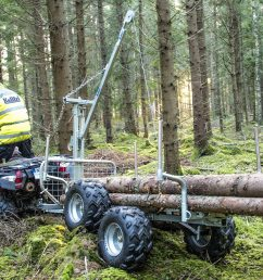 atv forestry tipping trailer with winch with floor davies implements wiring for winch atv woods [ 1600 x 1136 Pixel ]