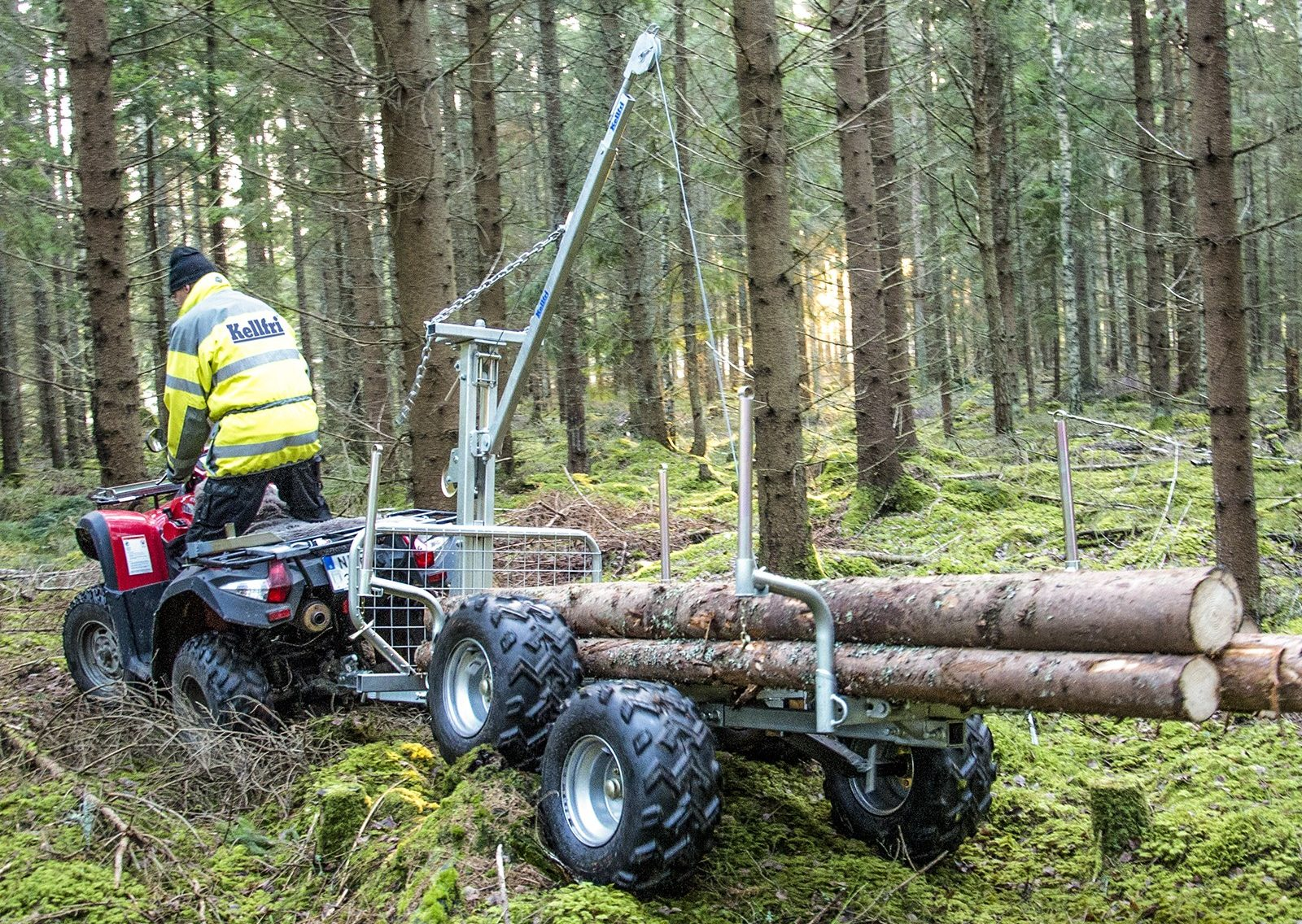 hight resolution of atv forestry tipping trailer with winch with floor davies implements wiring for winch atv woods