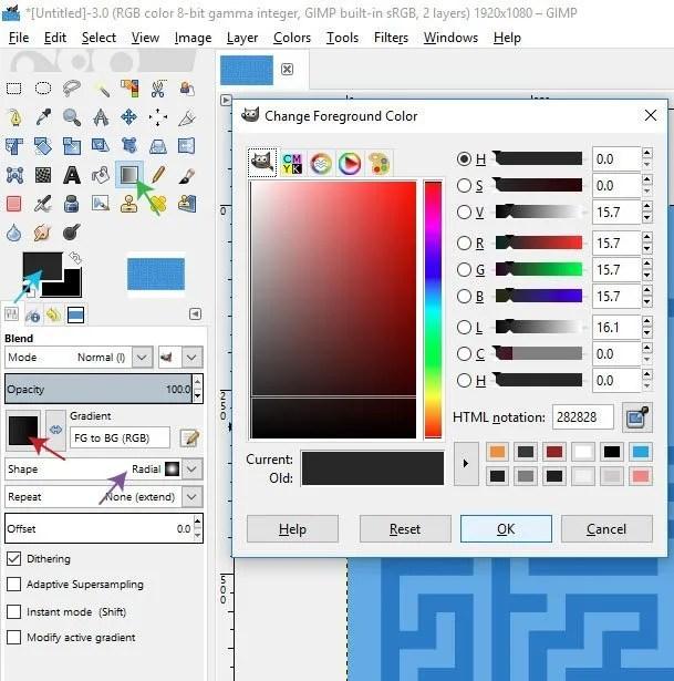 Blend Tool GIMP