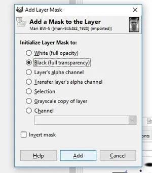 Inicijalizirajte slojevitu masku u opciju