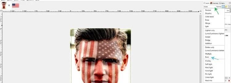 Promijenite način grafičkog sloja za snimanje GIMP tutoriala