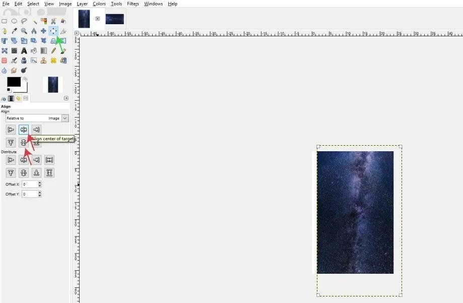 정렬 도구를 사용하여 이미지 정렬
