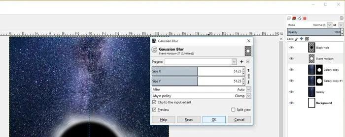 Szűrők Elmosódó Gauss Blur GIMP GEGL szűrő