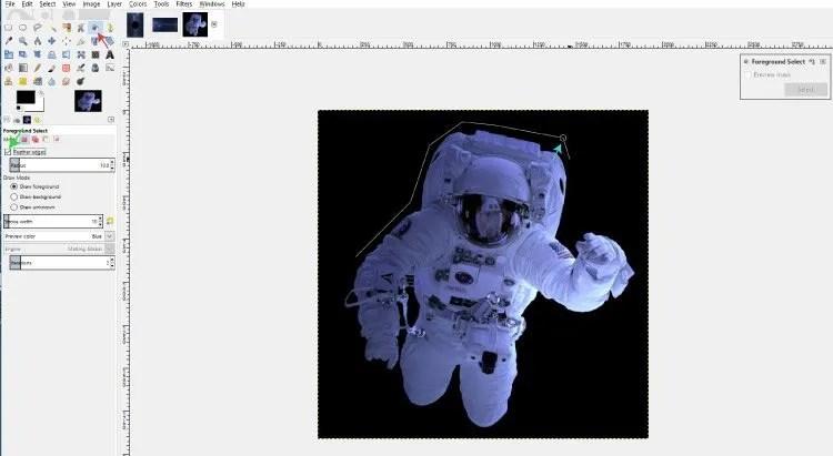Használja az előtérválasztó eszközt a GIMP-ben lévő háttér gyors törléséhez