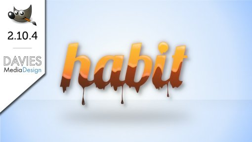 GIMP 2.10.4 Tutorial: Melting Chocolate and Caramel Text Effect