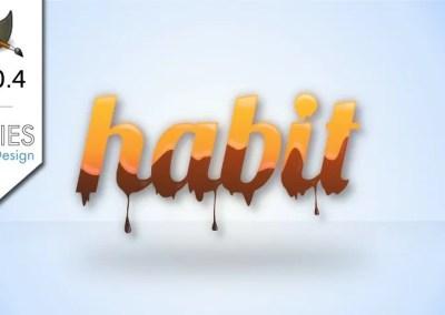 GIMP 2.10.4 Tutorial: Melting Chocolate and Caramel Text Effect