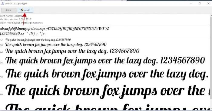 Install OTF Font File in GIMP