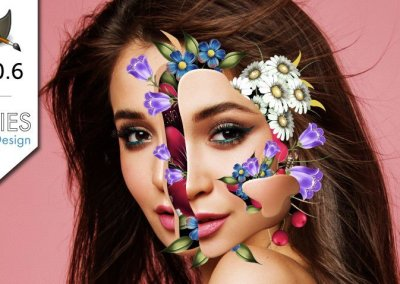 GIMP 2.10 Tutorial: Flower Face Effects (Marcelo Monreal)
