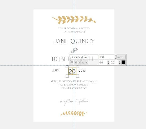 Dátum Szöveg Quicksand Font Esküvői Meghívók GIMP