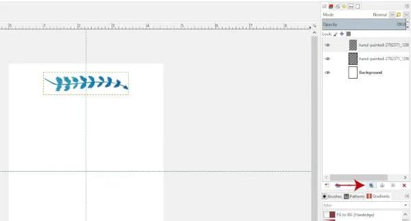 Rétegének ismétlése a GIMP 2.10.8-ben
