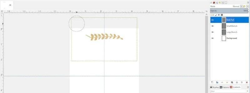 A GIMP-ben a kijelölés törléséhez nyomja meg a Törlés gombot
