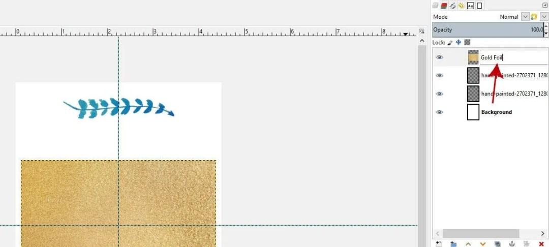 김프에서 골드 포일 텍스처 레이어 이름 바꾸기