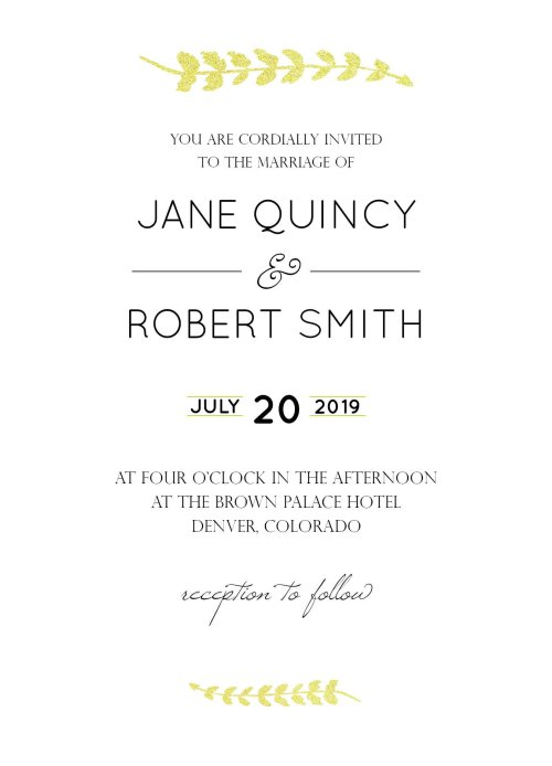 Wedding Invitations GIMP 2.10 Tutorial Final Design