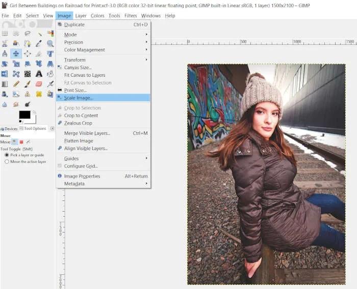 Image Scale Image GIMP White Border Tutorial
