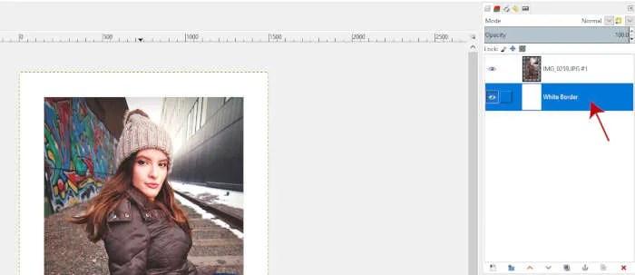 Layer Stacking Order White Border GIMP Tutorial