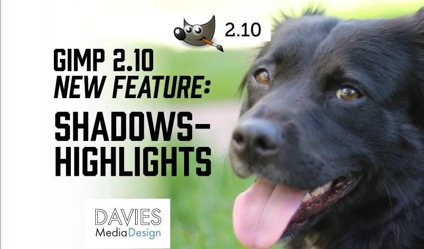 GIMP Shadows Highlights New 2.10 Feature