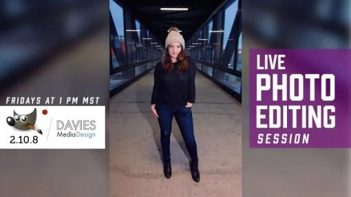 GIMP 2.10 Live Photo Editing Session (Feb 1st) Winter Fashion