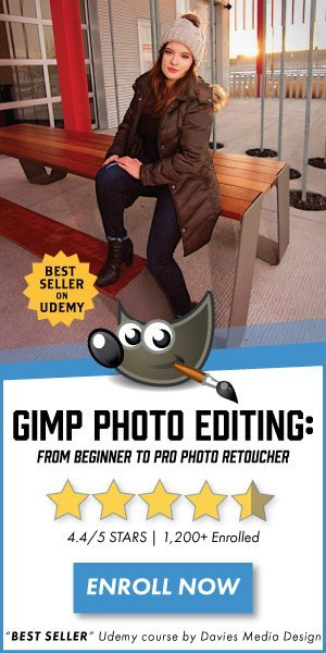 Enroll in Davies Media Design's GIMP 2.10 Photo Editing Masterclass!